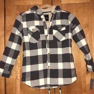 Lucky Brand buffalo plaid shirt/jacket sma…